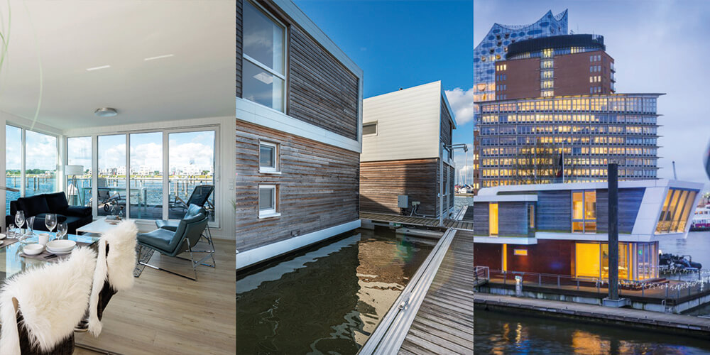 19 05 01 Floating Home klein Copyright HELMA Ferienimmobilien FHG Floating house GmbH Floating Homes GmbH